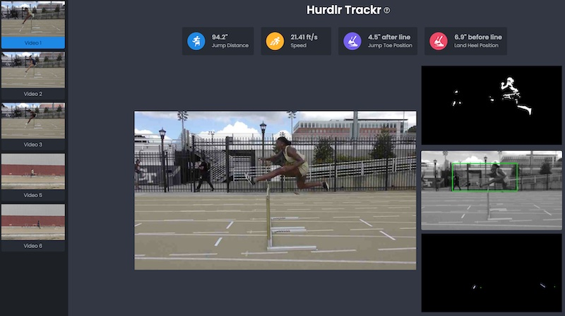 User interface for Hurdle Tracker
