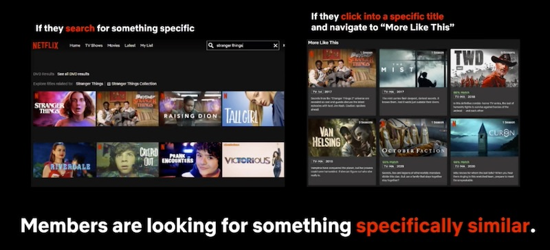 Netflix explicit search